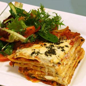Een verrassende lasagne van  kabeljauw en kappertjes